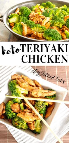 Keto Teriyaki Chicken is succulent, juicy chicken smothered in homemade sugar-free teriyaki sauce. It's easy to make and will take you less than 25 minutes! Chicken Teriyaki Recipe, Homemade Teriyaki Sauce, Keto Chicken, Chicken Recipes, Asian Chicken, Asian Recipes, Keto Recipes, Healthy Recipes, Freezer Recipes