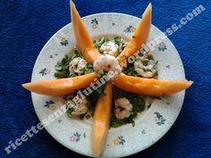 #Crawfish and #rocket for this #melon sea star! Stella di #melone #rucola e #gamberi.