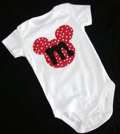 Mickey Ears Onesie. Maybe I can make this for Charli.