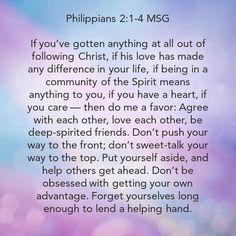 Phil 2:1-4 Phil 2, Philippians 2, Christ, Motivational, Journey, Spirit, Life, The Journey