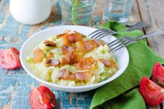 Colcannon - Irish Mashed Potatoes with Cabbage and Bacon