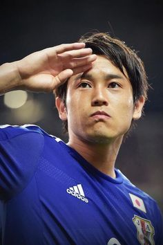 "Atsuto UCHIDA No.2 (Schalke 04) : ""Samurai Blue"" Japan : 2014 FIFA World Cup Brazil : #WorldCup #SamuraiBlue"