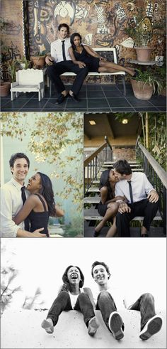 Cute poses for natural wedding shots