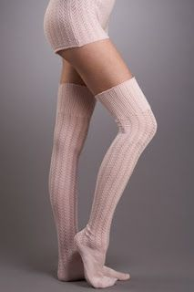 Knit, over the knee... that's all I got to say...  (cut sleeves for warmers)