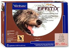 Effitix Topical solution for Dogs 89132 lbs 3 Months -- You can get additional details at the image link. (This is an affiliate link) #dogfleasandtickcontrol