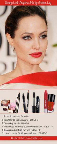 Želiš li i ti postići izgled prekrasne Angelina Jolie? Cristian Lay ti daje nekoliko savjeta! Da bi izgledala kao prava zvijezda, koristi fantastične proizvode linije Exclusive Cristian Lay.