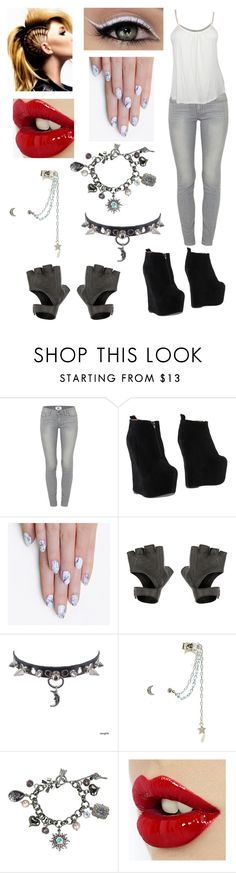 """""""Untitled #225"""" by deadlyroseforever on Polyvore featuring Paige Denim, Jeffrey Campbell, alfa.K, American Eagle Outfitters and Betsey Johnson"""