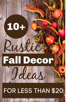 fall decor ideas for the porch This post may contain an affiliate link. See my disclosure policy. Fall is my favorite season, and my second favorite time of the year to deco Rustic Fall Decor, Fall Home Decor, Autumn Home, Holiday Decor, Woodland Decor, Decorating On A Budget, Decorating Frames, Halloween Decorations, Fall Decorations