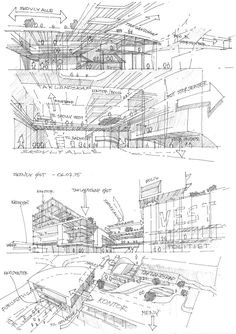Annotated Architecture Sketchbook Pinterest Hand Drawn