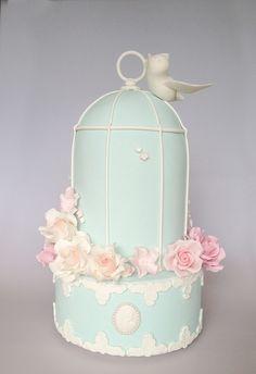 Vintage Birdcage by Sweet Tiers, via Flickr