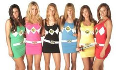 Ha! Who wants to be my other sexy Power Rangers this Halloween? I call Red Ranger.