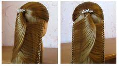 Tuto coiffure simple: belle coiffure facile à faire cheveux long /mi lon...