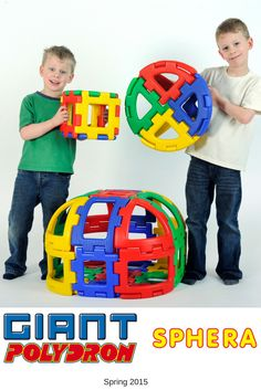A great set to introduce the properties of #2D and #3D #shapes and develop spatial awareness at an early age in a fun, engaging and hands-on way. It is heavily textured on one side and smooth on the reverse. The variety of pieces allows you to build #dome-topped #cylinders, cylinders, #spheres and half spheres. Fits perfectly with #Giant #Polydron!