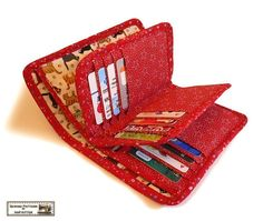 ***WALLET PATTERN*** ***WALLET SEWING PATTERN*** ***WALLET SEWING PATTERN*** The wallet has 20 card slots, 5 coupon or receipt slots, 1 coin pocket, and 1 bill compartment. The card slots can also be put into tickets, shopping lists, name cards... Dont need to complain not enough pockets for these daily gadgets. Actually the wallet will be a good a organizer in bag. The pattern was written in English. There are about 90 photos to explain each step clearly. Clear instructions make you…