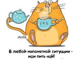 Доброе бодрое холодное утро вкусными чаями уже запаслись на зиму? Картинка специально для всех любительниц драматизировать у всех же  наверное есть подруга - королева драмы✌️ #booandstu #kotkrendel