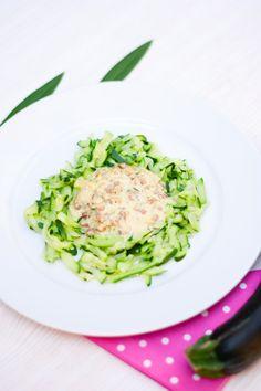 Low Carb Zucchini Nudeln mit Carbonara Soße – Low Carb Köstlichkeiten