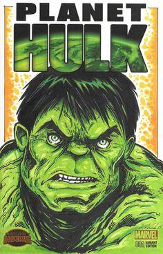 Hulk Sketch Cover by MarshStore on Etsy