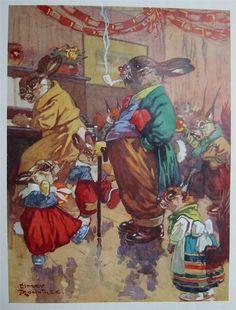 "HARRY ROUNTREE ""Wog & Wig illustration 1947 | eBay"