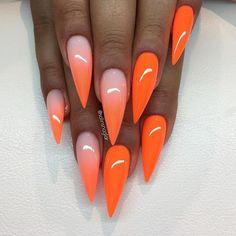 """Ombre och hellackat med """"Neon Orange"""" #lillynails"""