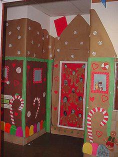 Gingerbread Classroom Door Decoration Idea & Our class door | crafts | Pinterest | Class door and Preschool door