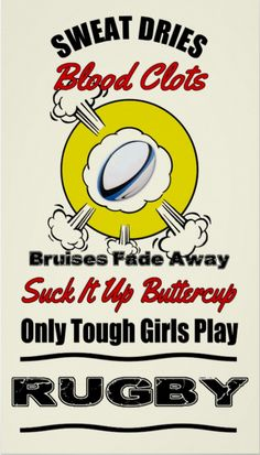 Shop Tough Girls Play Rugby Poster created by TheRugbyStore. Rugby Memes, Rugby Quotes, Sport Quotes, Girl Quotes, Rugby Funny, Rugby League, Rugby Players, Sport Gymnastics, Olympic Gymnastics