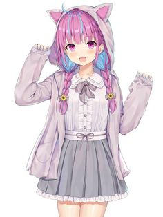 Tagged with anime, anime girl, zy; Anime Neko, Anime Wolf, Lolis Neko, Manga Kawaii, Loli Kawaii, Female Anime, Kawaii Anime Girl, Anime Girl Pink, Manga Anime Girl