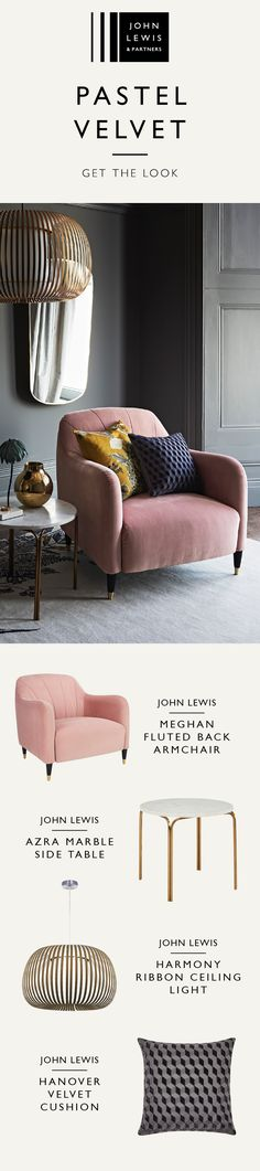 Pair dark walls with plush velvet upholstery, add accents of pastels and rich ochre for on-trend styling. Create a space as unique as you are, with colourful seating in sumptuous textures. Discover the new John Lewis & Partners upholstery collection.