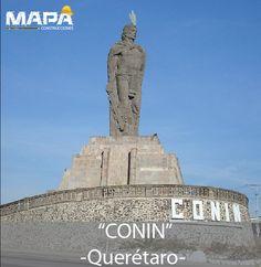 """#BuenosDías: """"Estatua CONIN"""" Fundador de Santiago de #Querétaro, indígena otomí nacido en Nopala, Reino de Xilotepec."""