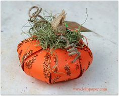 3D Paper Pumpkin Tutorial for Fall