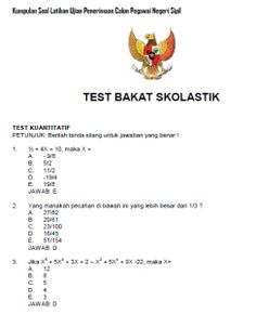 Soal CPNS Test bakat skolastik