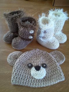 Ugg Boots and Bear hat