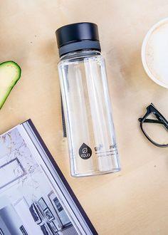 Zdravá fľaša Equa Plain Black 600ml - Equa fľaše 600ml - Tritánové zdravé fľaše - Eko fľaše | SolarBunny.eu