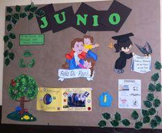 Junio día del padre periodico mural escolar | Ideas | Pinterest ...