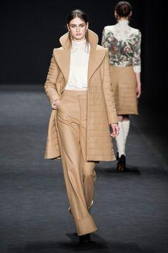Vivienne Tam at New York Fashion Week - beige and white