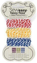 We R Memory Keepers~BAKERS TWINE PRIMARY~Sew Easy Floss
