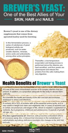 Brewer's Yeast: One of the Best Allies of Your Skin, Hair and Nails - Health Benefits of Brewer Yeast - Where You Can Buy Brewer Yeast? - What contains 100 gr of Brewer Yeast?