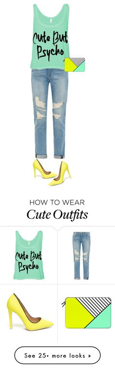 """""""cute but pyscho"""" by httphani on Polyvore featuring mode, Frame Denim et Casetify"""