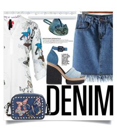 """seduzione romantica"" by gina-m ❤ liked on Polyvore featuring Desigual, Pierre Hardy, Valentino, contest, denim, Blue and fashionset"