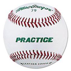Macgregor Boys Practice Baseball, White, Youth (One Dozen) - http://www.closeoutball.com/baseballs-closeout-sale/macgregor-boys-practice-baseball-white-youth-one-dozen/