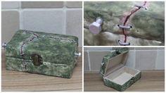 Frankenstein Inspired Trinket Box handmade
