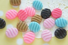 12 pcs Oval Candy Cabochon 15mm17mm CD640 by misssapporo on Etsy