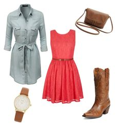 """#18"" by blessedbehisnamex3 ❤ liked on Polyvore featuring LE3NO, Yumi, Ariat, Kate Spade, apostolic, modestfashion and fashionforchrist"