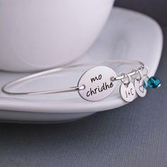 Mo Chridhe Bracelet, Outlander Jewelry, Valentine Gift, Gaelic Bracelet, My Heart Bracelet, Scotland Jewelry by georgiedesigns on Etsy https://www.etsy.com/listing/198761375/mo-chridhe-bracelet-outlander-jewelry