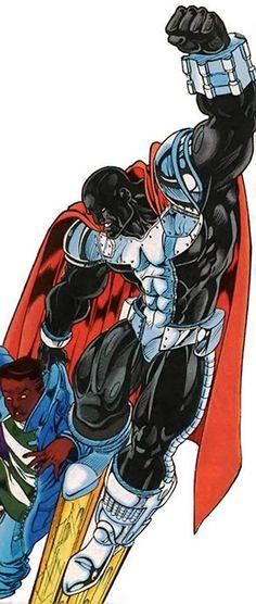 Steel - Man of Steel - DC Comics - John Henry Irons Comic Book Characters, Comic Book Heroes, Comic Character, Comic Books Art, Comic Art, Hq Marvel, Marvel Comics, Superman Comic, Black Superman