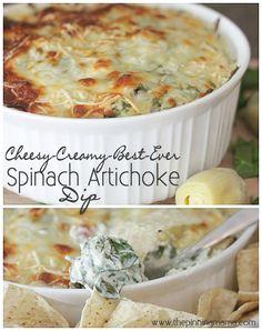 Best Ever Hot Spinach Artichoke Dip Recipe | www.thepinningmama.com | #recipe #spinach #appetizer