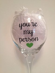 """A wine glass that'll no doubt come in handy.   18 Insanely Cute Gifts You Should Buy """"Your Person"""" Immediately"""