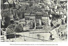 mainz_zerstoerung1. Mainz Germany, Historical Artifacts, Dom, Paris Skyline, City Photo, Travel, City, Germany, Photo Illustration