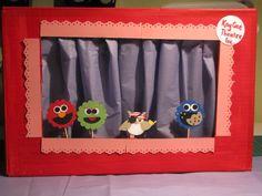 Day 29 - Cardboard box puppet theatre
