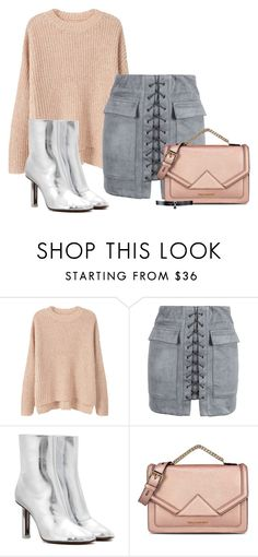 """""""Untitled #1233"""" by majajevrem ❤ liked on Polyvore featuring MANGO, WithChic, Vetements, Karl Lagerfeld and Fallon"""