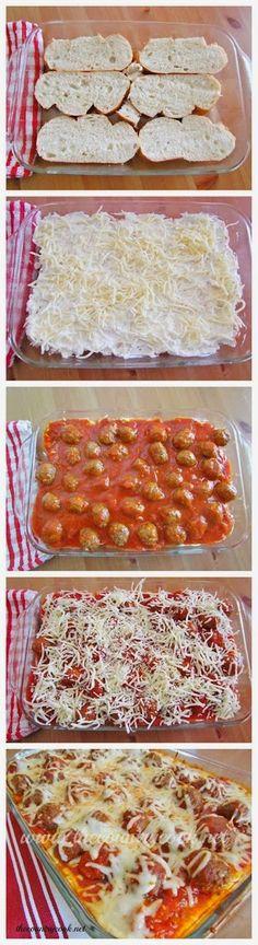 How To Meatball Sub Casserole